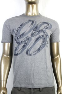Gucci Grey Horsebit Men's Gg Logo Belt Graphic T Top 3xl 337660 1066 Shirt