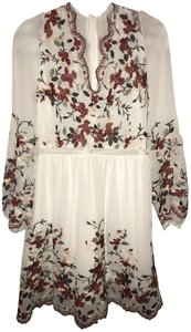 Lucy Paris Embroidery Lace Sheer Floral Dress