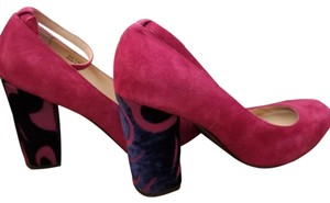 Farylrobin pink and navy Mules