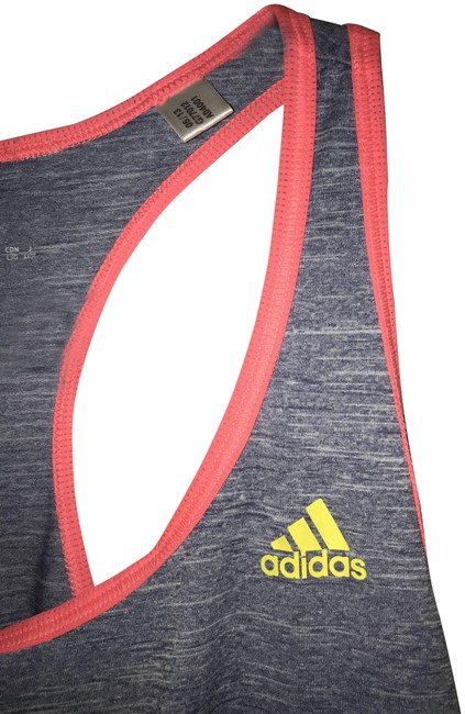 Item - Pink Gray Yellow Workout Activewear Top Size 12 (L)