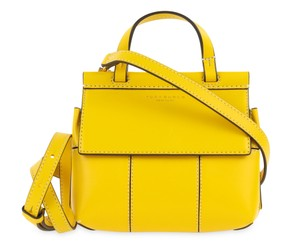 Tory Burch Block-t Mini Daisy And Satchel in Vachetta/Yellow