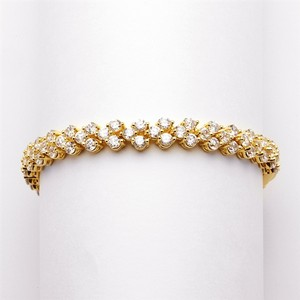 Mariell Petite Gold Cubic Zirconia Wedding Or Prom Tennis Bracelet 4109b-g-6