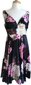 Ever-Pretty Multi Color Black/Floral Casual Rayon/Polyester Dress