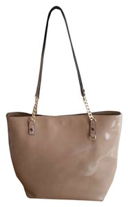 Michael Kors Patent Leather Tote in nude