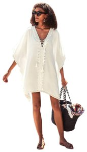 Bindya New York Lace Up Tunic Cover Up