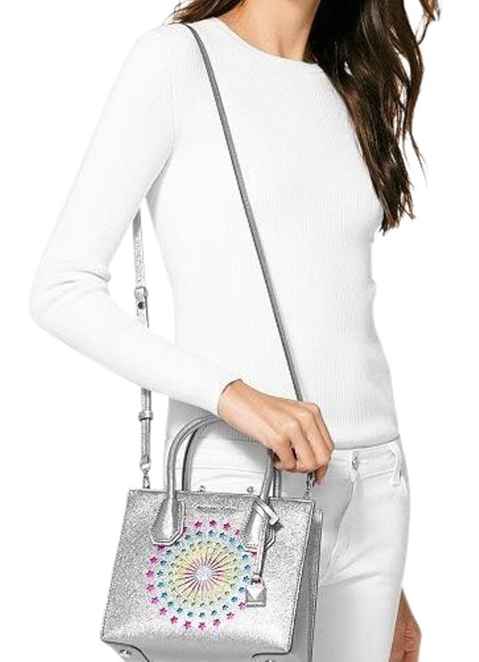 092ceb848567 Michael Kors Mercer Medium Light Pewter Messenger Bag - Tradesy