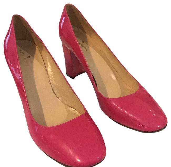 Item - Pink Patent Leather 3 Inch Chunky Pumps Size US 10 Regular (M, B)