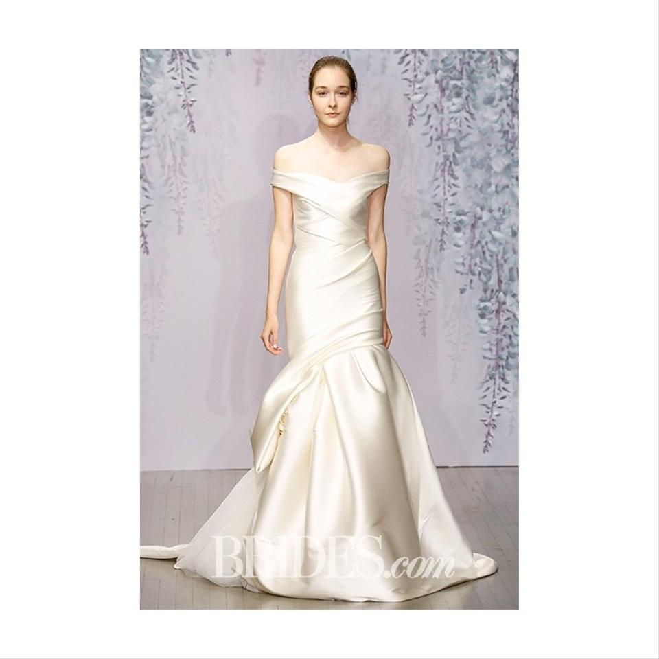 Wedding Dress White Vs Off White: Monique Lhuillier Buttercup (Off White) Stretch Satin