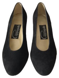 Pappagallo Suede Quality Designer Holiday Black Pumps