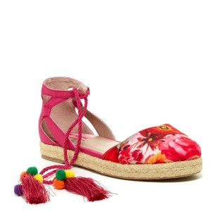 Betsey Johnson Red and Pink Sandals