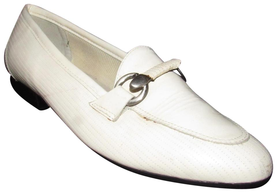 5185e1e72d5 Naturalizer Loafer Style Comfy Classic Chrome Bamboo Mint Vintage white  patent leather with horse- ...