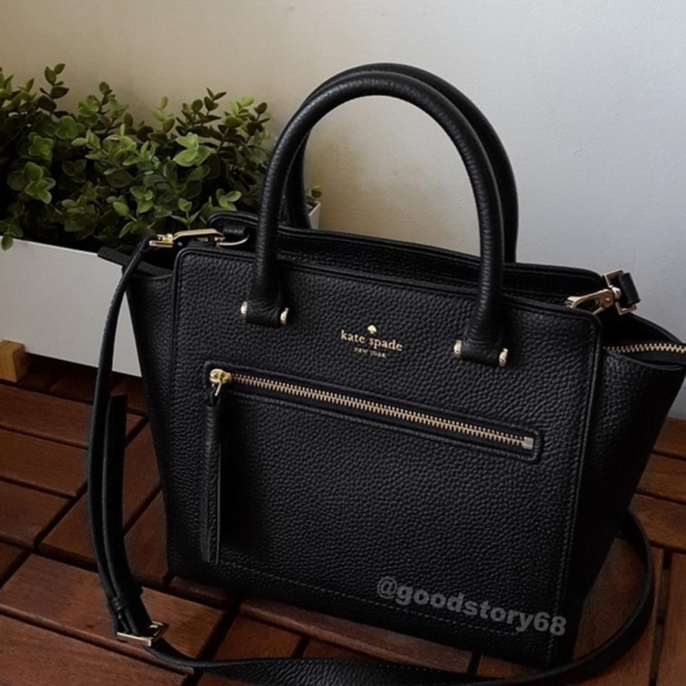 c010a2cbe03f Kate Spade Chester Street Small Allyn Crossbody Black Leather Satchel -  Tradesy