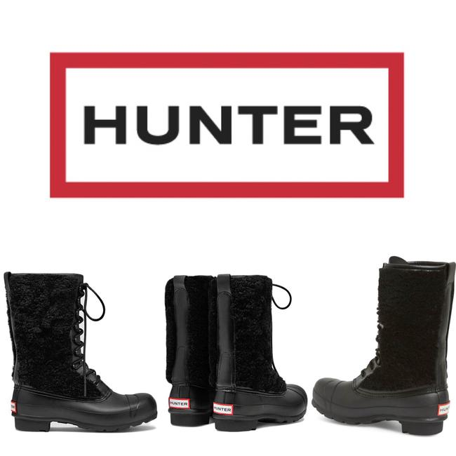 Item - Black Genuine Shearling Waterproof Lace Up Boots/Booties Size US 6 Regular (M, B)