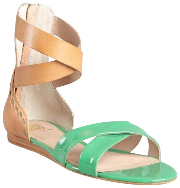 Pour La Victoire Kelly Green Saddle Brown Fabia X Band Gladiator Sandals Size US 6 Regular (M, B) Pour La Victoire Kelly Green Saddle Brown Fabia X Band Gladiator Sandals Size US 6 Regular (M, B) Image 1