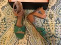 Pour La Victoire Kelly Green Saddle Brown Fabia X Band Gladiator Sandals Size US 6 Regular (M, B) Pour La Victoire Kelly Green Saddle Brown Fabia X Band Gladiator Sandals Size US 6 Regular (M, B) Image 3