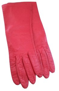 Hermès Authentic Hermes Red Leather Gloves Size 7.5