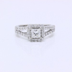 622fcbd04 Helzberg Diamonds E 1.00 Tcw Princess Round Cuts 18k White Gold Engagement  Ring