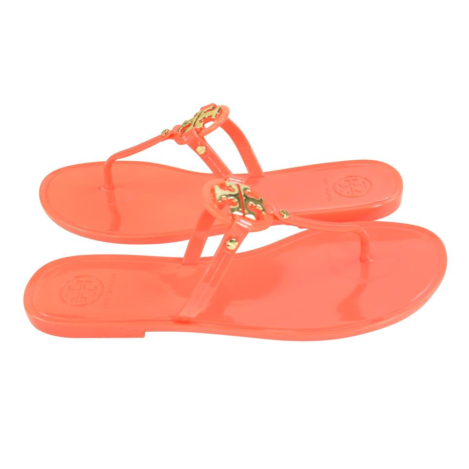 666c5b9253fe Tory Burch Poppy Coral Mini Miller Jelly Sandals Size US 8 Regular ...