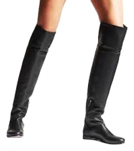 Jimmy Choo Mitty 40 Over The Knee 10 Black Boots