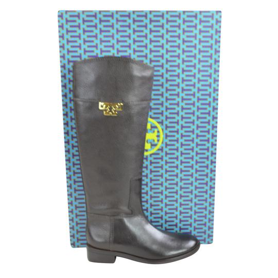 d1f3eb25e62e Tory Burch Coconut Joanna Riding Tumble Leather Boots Booties Size ...