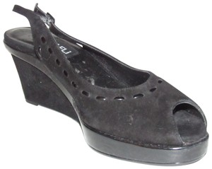 edd3be607ad0 Vaneli High End Boho Look Open Toe Soft Whip-stitched Excellent Condition  black nubuck leather