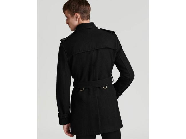 Burberry Mens Jacket Wool Double Breasted Trench Coat Image 1