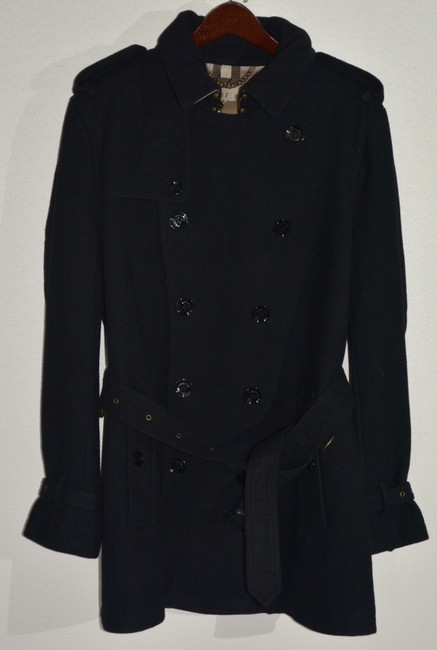 Burberry Mens Jacket Wool Double Breasted Trench Coat Image 2