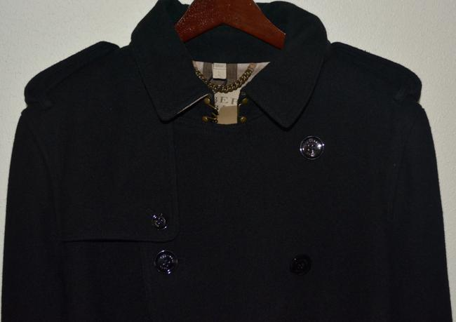 Burberry Mens Jacket Wool Double Breasted Trench Coat Image 4