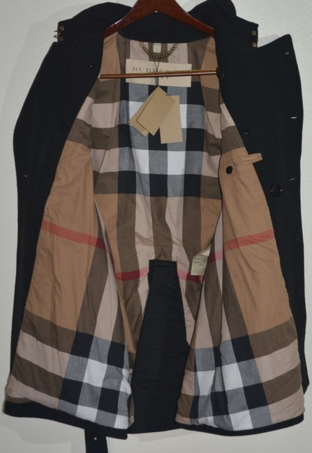 Burberry Mens Jacket Wool Double Breasted Trench Coat Image 6