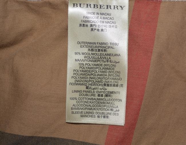 Burberry Mens Jacket Wool Double Breasted Trench Coat Image 9