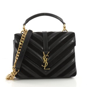 Saint Laurent College Matelasse Ysl Top Handle Shoulder Bag