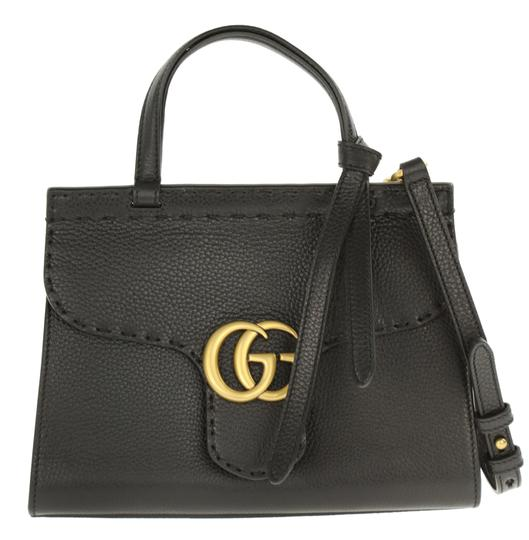 c4c2fda028efd7 gucci marmont mini gg top handle black leather satchel 14% off retail.  TRADESY