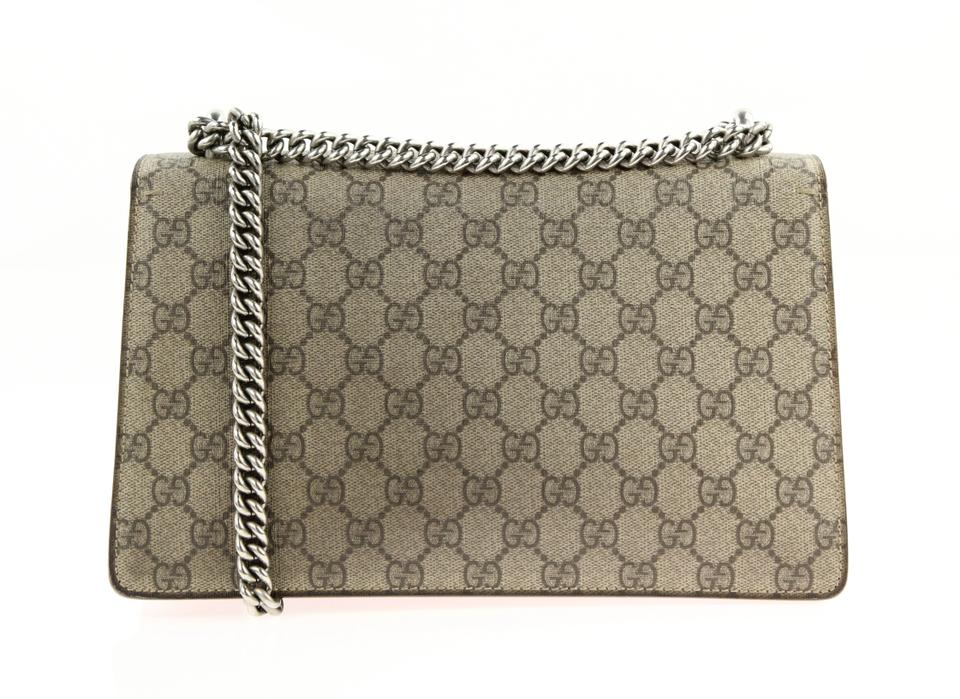 708638cc3765 Gucci Dionysus Small Gg Brown Coated Canvas Shoulder Bag - Tradesy