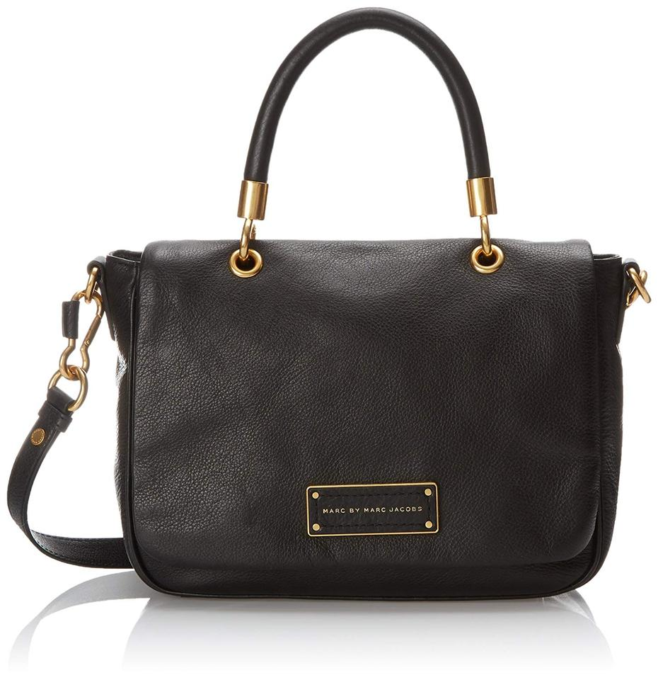 febdd493da47 Marc by Marc Jacobs Too Hot To Handle Small Top Handle Satchel Black  Leather Shoulder Bag