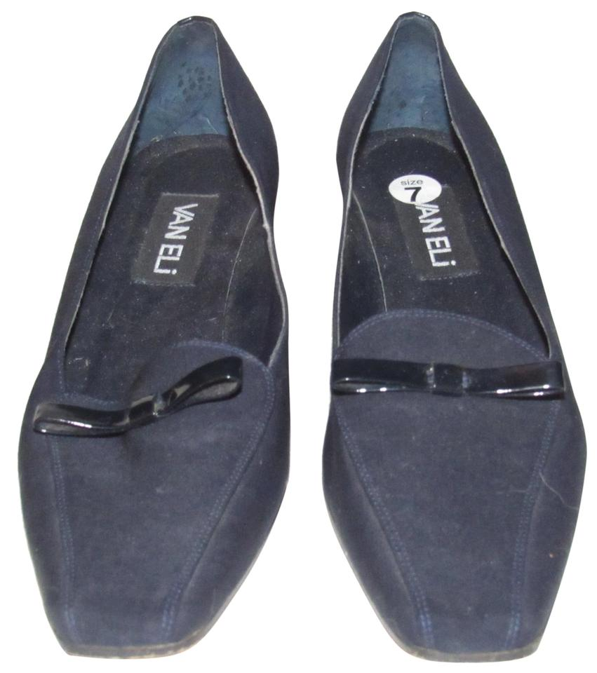 ad3ea5f01ba Vaneli dark navy color over leather and patent leather shoesdesigner pumps  size us regular jpg 851x960