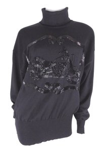 Escada Beaded Turtleneck Beaded Turtleneck Sweater