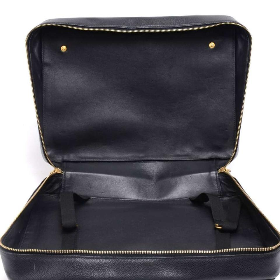 Chanel Vintage Caviar Front Pocket Briefcase Shoulder Black Leather ... 9c98510d6d5c2