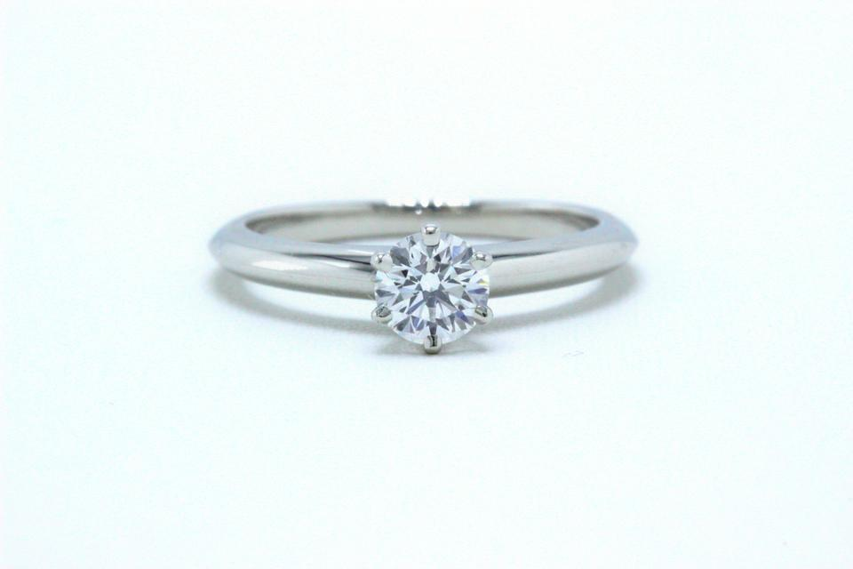 3df1c9aeb Tiffany & Co. E Diamond Round Solitaire 0.38 Carats Vvs2 Engagement Ring  Image 0 ...
