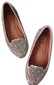 Jeffrey Campbell white / silver Flats