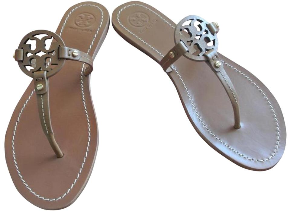 48292cf729c0d Tory Burch Brown Mini Miller Sandals Size US 10 Regular (M