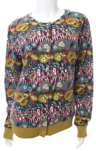 Oilily Floral Cotton Sweater Cardigan
