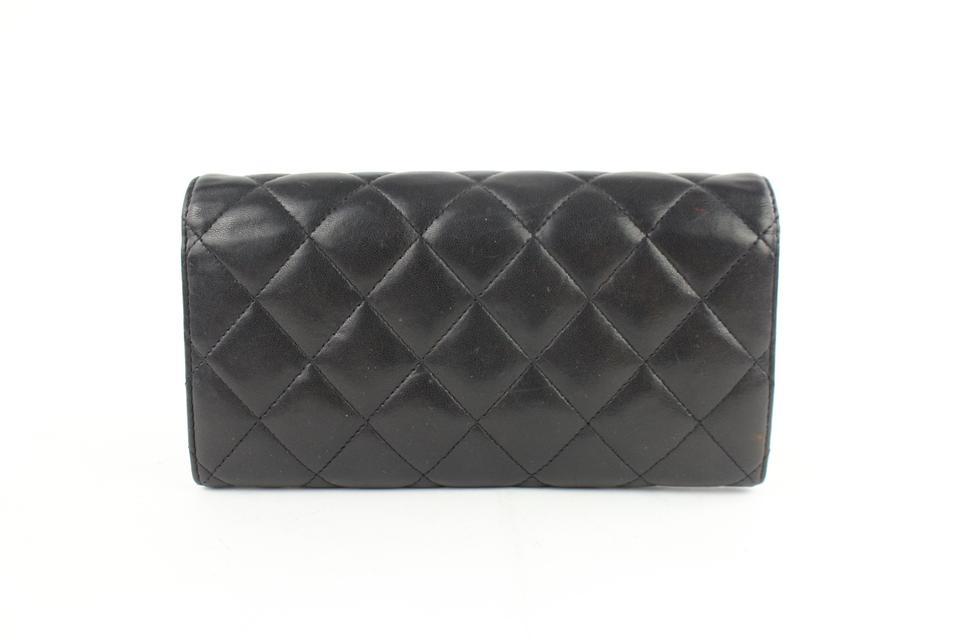 34f6d41692b7ba Chanel Flap Gusset L-gusset Classic Quilted Black Clutch Image 11.  123456789101112