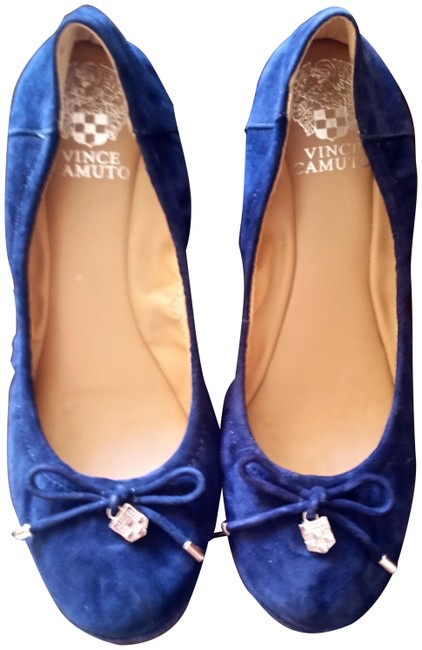 Item - Navy Blue Genuine Suede Farina In Flats Size US 8 Regular (M, B)