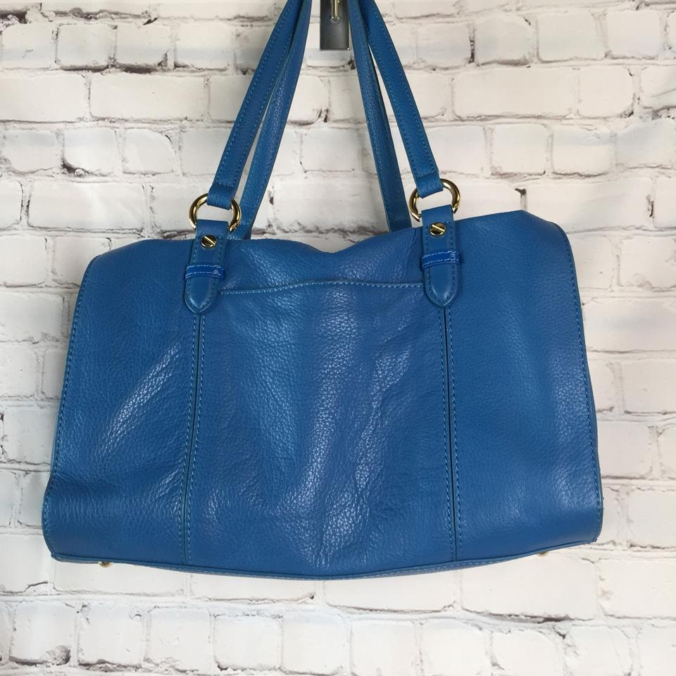 Isaac Mizrahi Purse Blue Leather Shoulder Bag