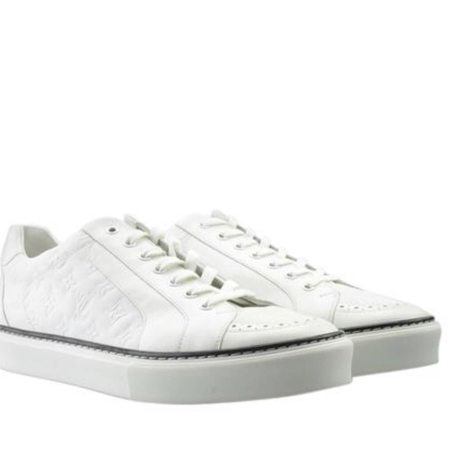 321345df1edc Louis Vuitton White Mens Leather Sneakers Sneakers. Size  US 7.5 ...