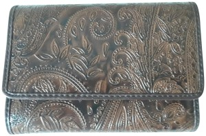 Relic Relic Brown Tropic Embossed Tri-Fold Wallet With Coin Purse