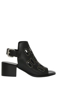 MCQ by Alexander McQueen Low Studded Open Toe Black Sandals