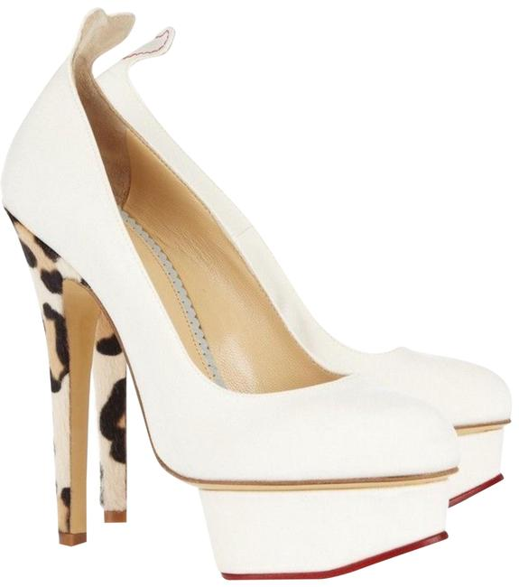 Item - Ivory Love Dolly Twill and Calf Hair Pumps Size EU 35.5 (Approx. US 5.5) Regular (M, B)