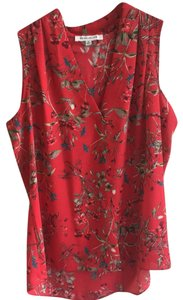 Rose & Olive Top Red, green, blue