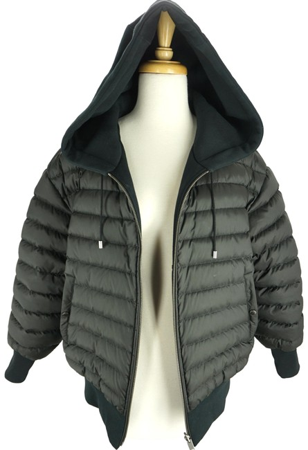 Item - Black Langleigh Quilted Nylon Reverible Sweat Jacket Hoody Coat Size 6 (S)